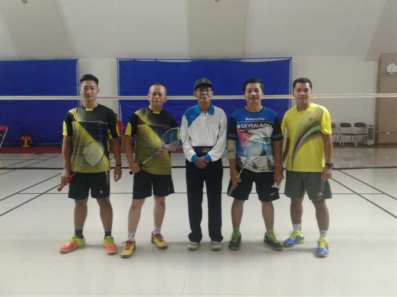 Pertandingan persahabatan Badminton seluruh PT Kebon Agung